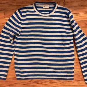 Cashmere Blue White Striped Sweater
